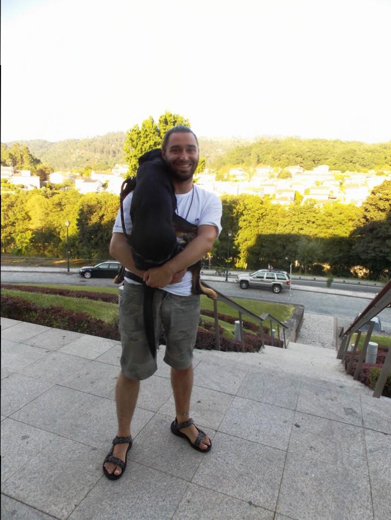 Hugo e seu cãozinho