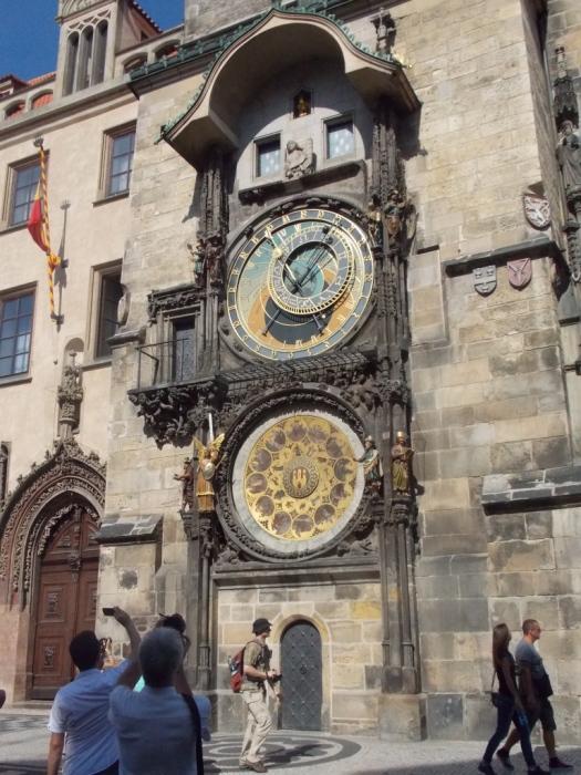 Prague astronomical clock Relógio astronômico medieval de Praga