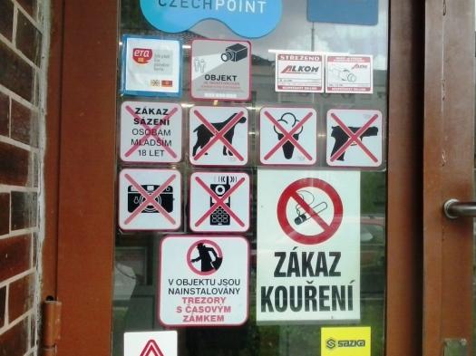 no smoking, no ice cream, no dogs, no guns, no pictures, no breathing...