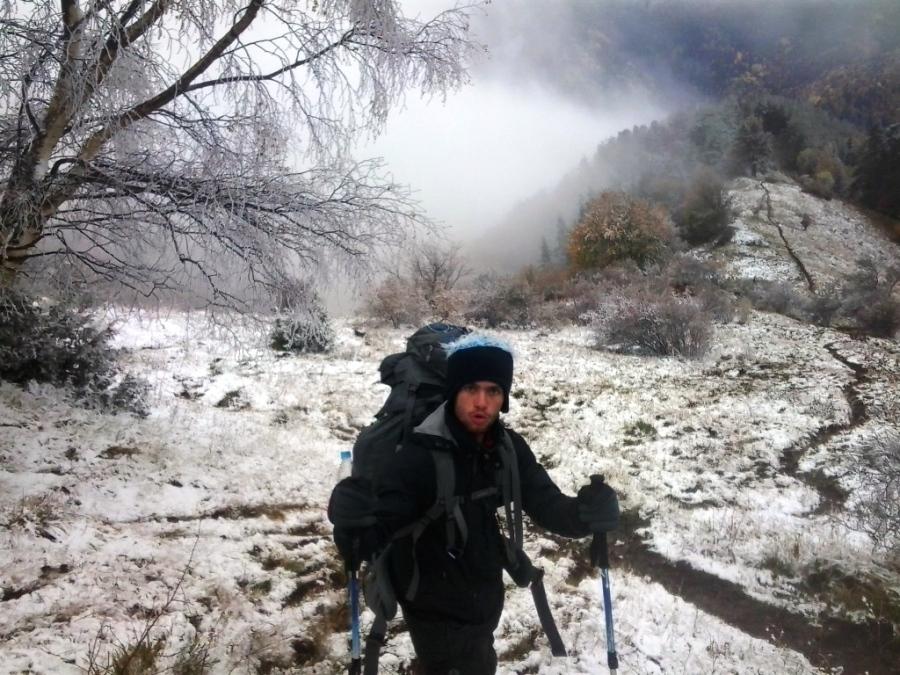 Neve na trilha dos sete lagos