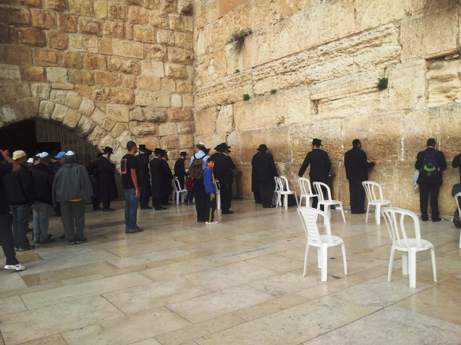 Jews in the Wailing Wall