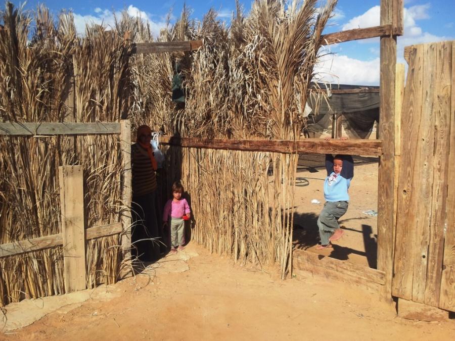 Assentamento perto da fronteira com o Egito