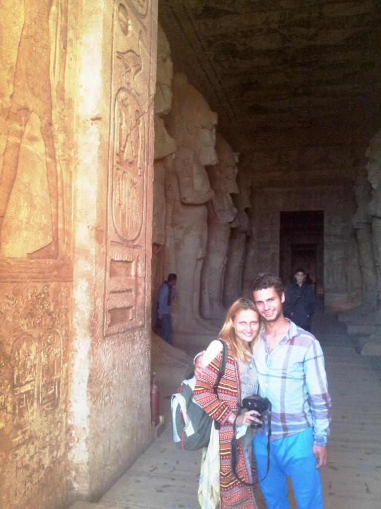 Eu e a Russa em Aswan