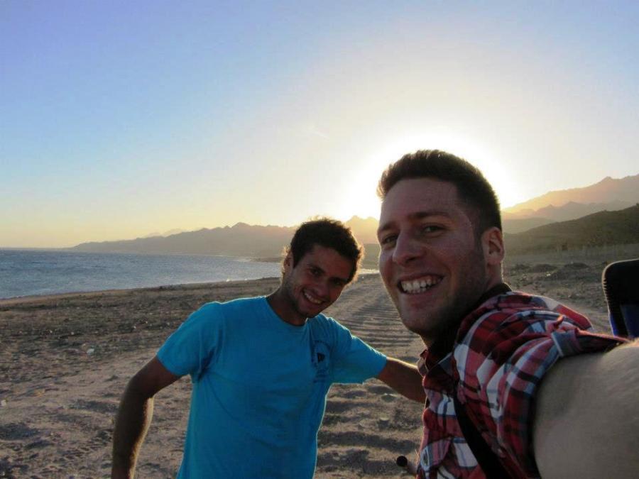 Eu e Lirón da Dinamarca em Dahab
