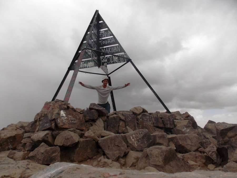 Toubkal, highest mountain in Morocco