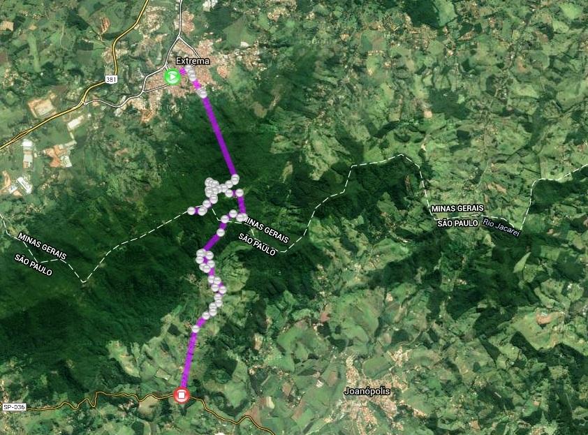 Mapa grosseiro da Travessia