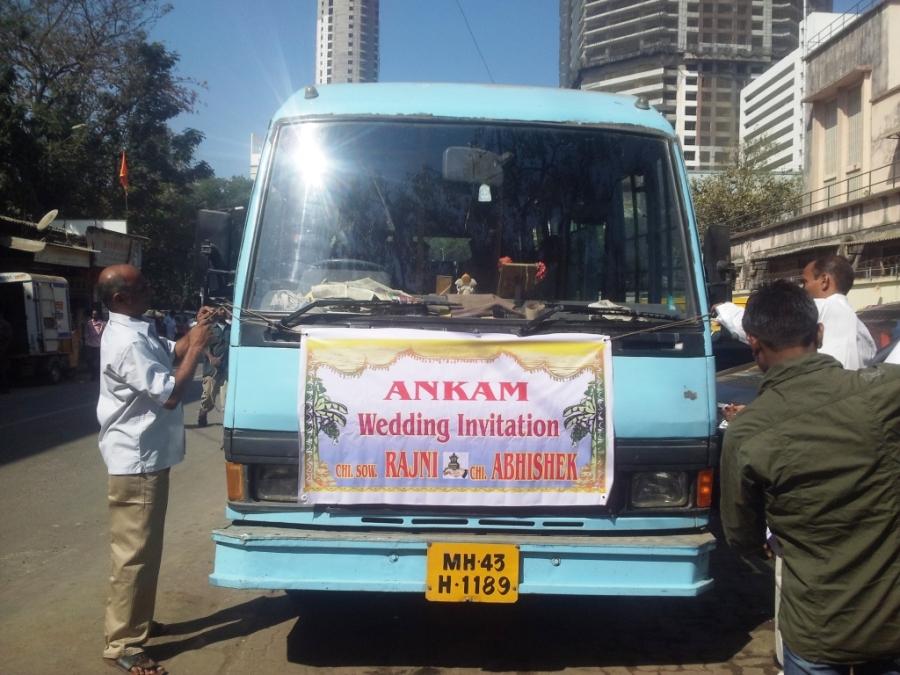 ônibus para o casamento!