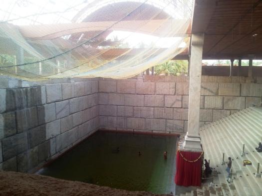 Meditation water temple