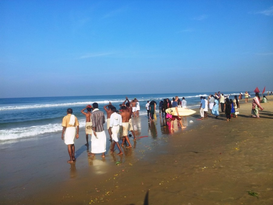 Ashes Ceremony in varkala.