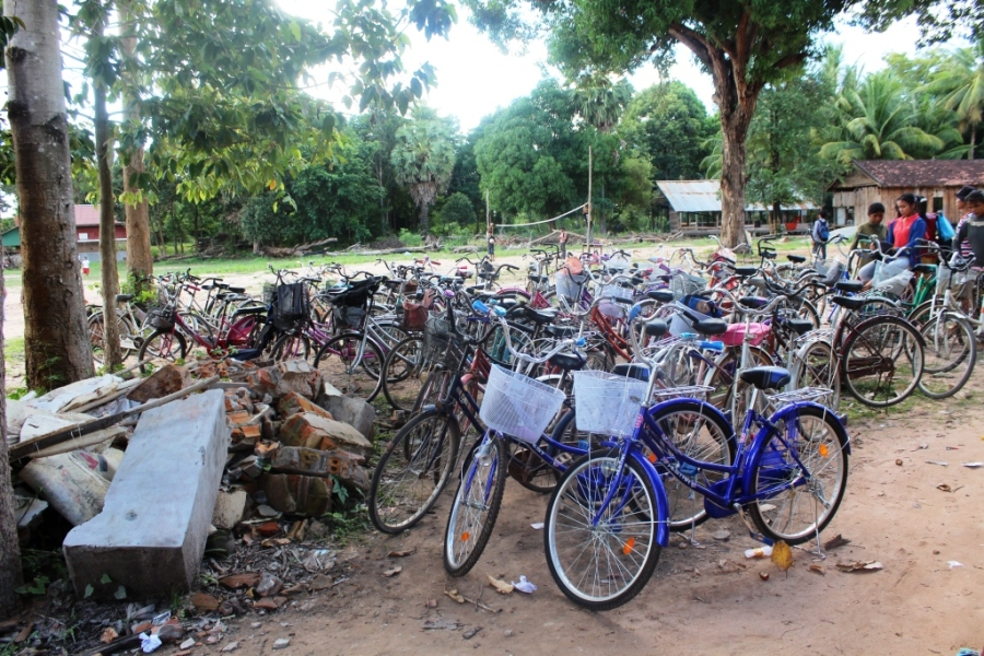 Muitas bikes por lá