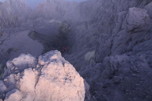Lava no vulcão Merapi