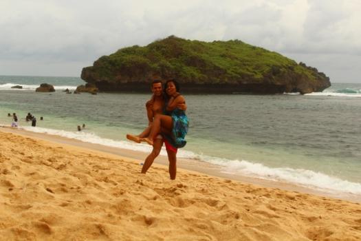 Praia na Ilha de Java