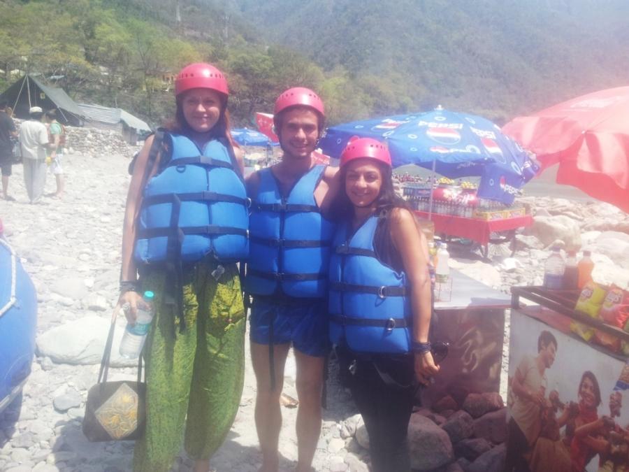 Rafting com Sabina e amiga russa.